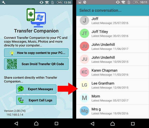 Transfer - companion-backup-sms-android-google-drive-1